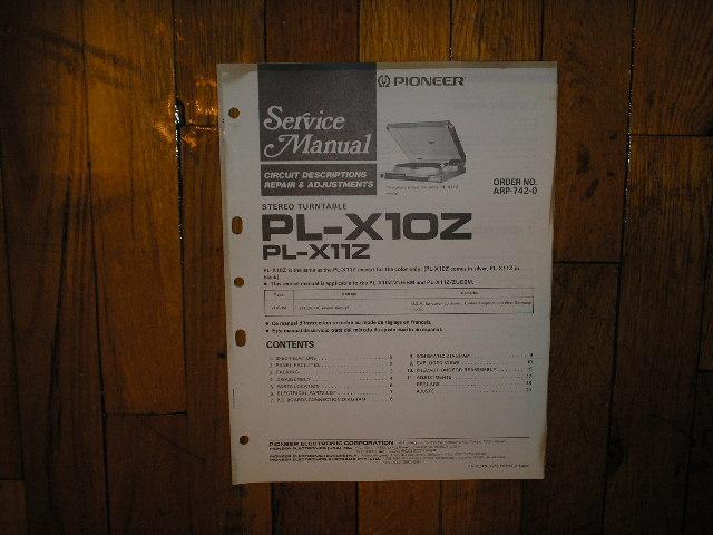 PL-X10Z PL-X11Z Turntable Service Manual