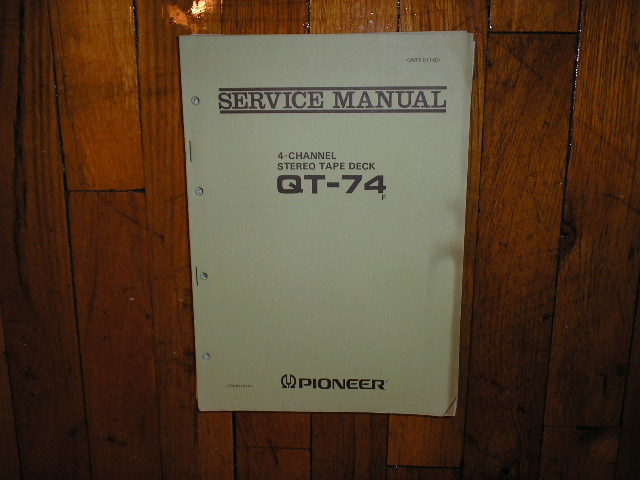 QT-74 4 Channel Reel to Reel Service Manual