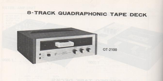 QT-2100 8-Track Schematic Manual Only.  It does not contain parts lists, alignments,etc.  Schematics only