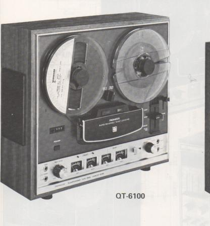 QT-6100 Reel to Reel Schematic Manual Only.  It does not contain parts lists, alignments,etc.  Schematics only