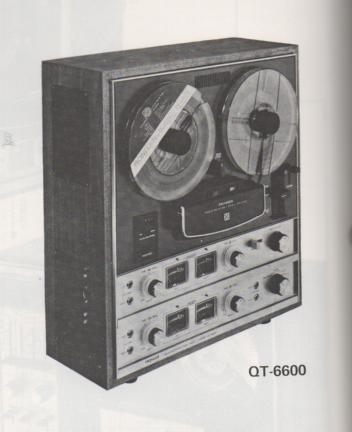 QT-6600 Reel to Reel Schematic Manual Only.  It does not contain parts lists, alignments,etc.  Schematics only