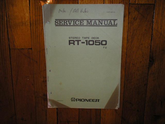 RT-1050 FU RT-1050FU Reel to Reel Service Manual