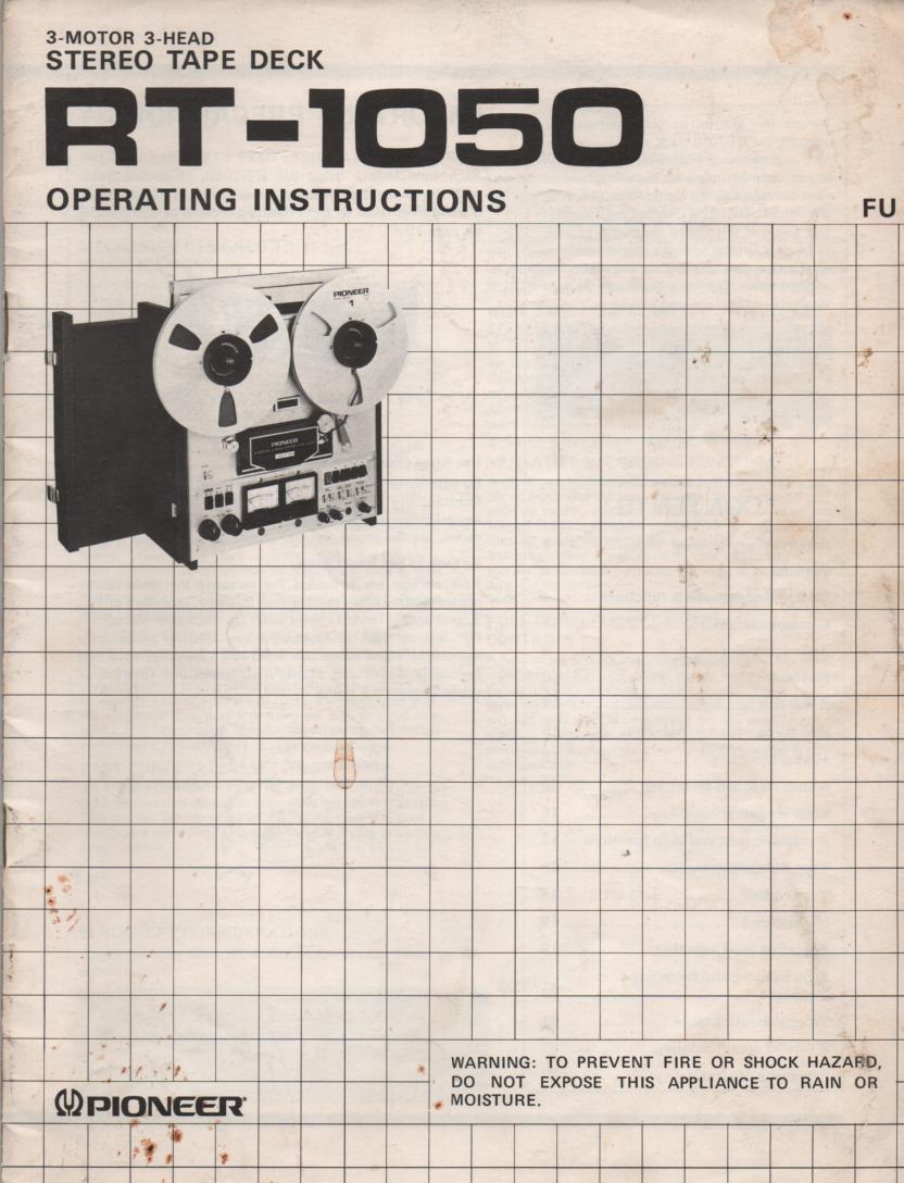 RT-1050 Reel to Reel Owners Manual