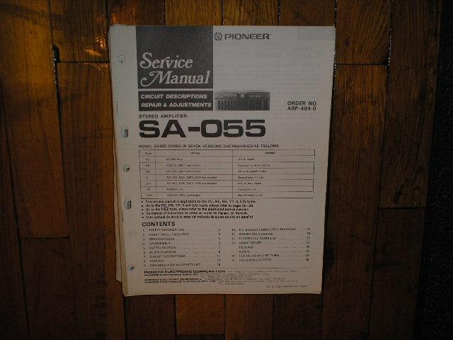 SA-055 Amplifier Service Manual