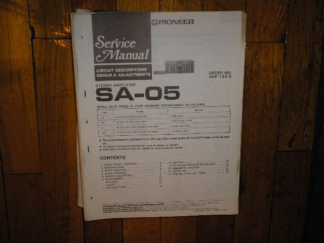 MA-100 Amplifier Service Manual