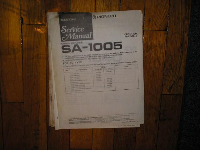 SA-1005 Amplifier Service Manual