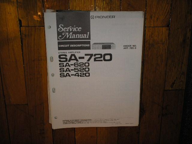 SA-420 SA-520 SA-620 SA-720 Amplifier Partial Service Manual