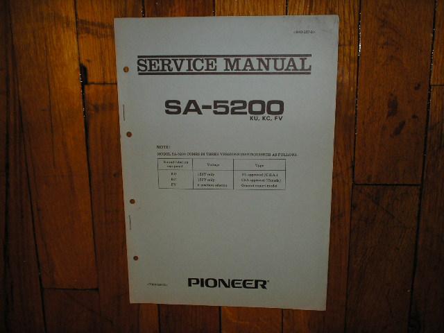 SA-5200 Amplifier Service Manual for KU KC FV Type