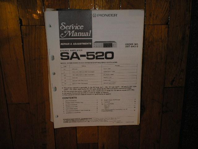 SA-520 Amplifier Service Manual