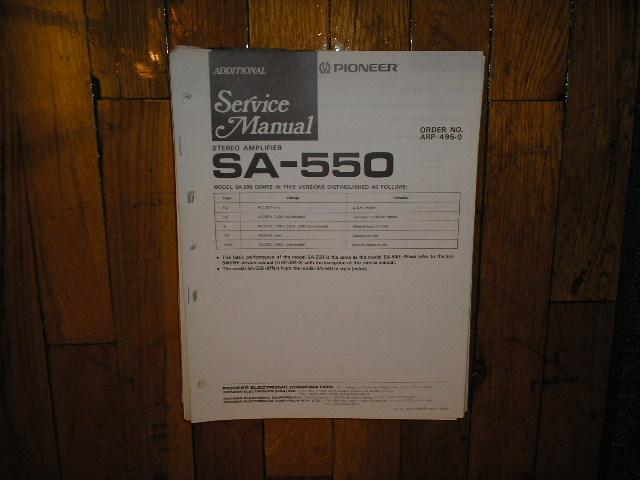 SA-550 Amplifier Service Manual