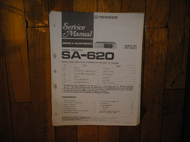 SA-620 Amplifier Service Manual