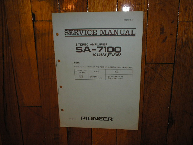 SA-7100 Amplifier Service Manual KUW FVW