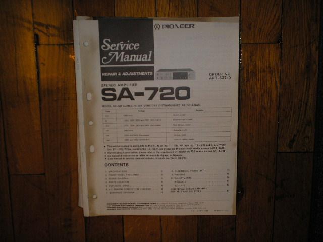 SA-720 Amplifier Service Manual