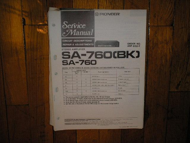SA-760 SA-760BK Amplifier Service Manual