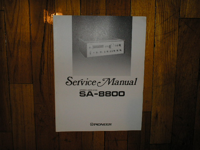 SA-8800 Amplifier Service Manual