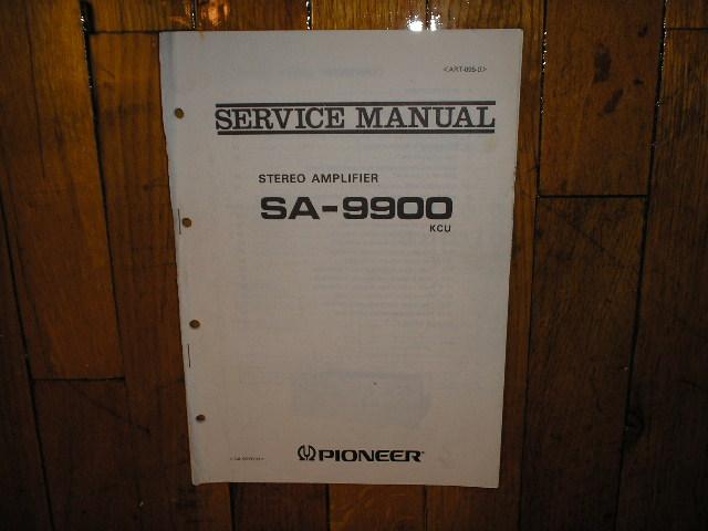 SA-9900 Amplifier Service Manual forKCU MPE Types