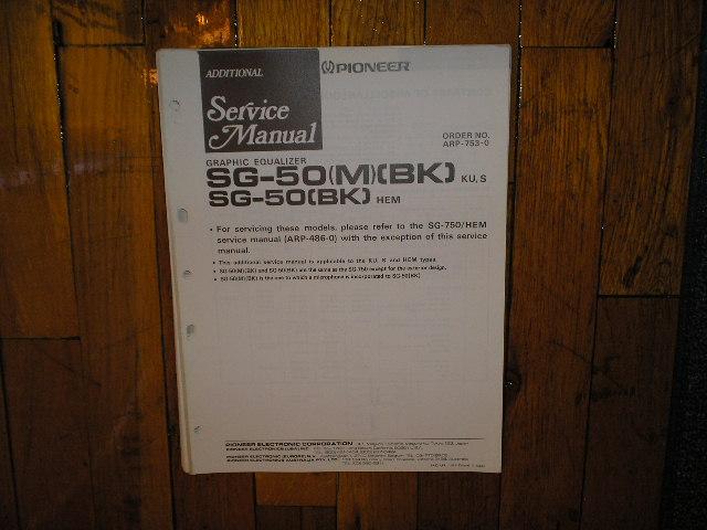 SG-50 SG-50 M BK Graphic Equalizer Service Manual
