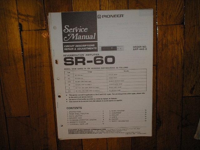 SR-60 Amplifier Service Manual