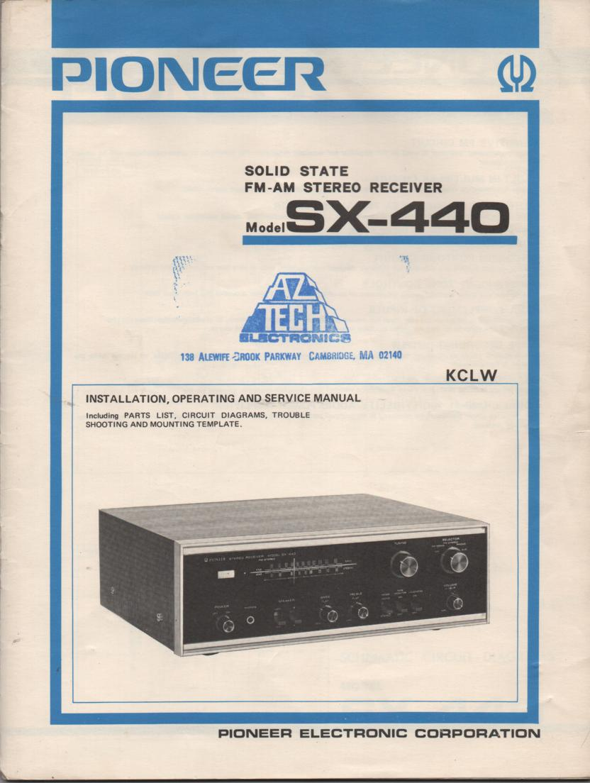 SX-440 KCLW Receiver Owners Service Manual