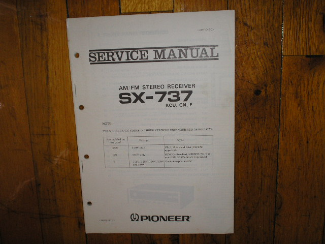 SX-737 Receiver Service Manual for KCU, GN, F, Versions.