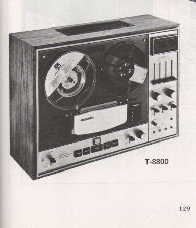 T-8800 Reel to Reel Schematic Manual Only.  It does not contain parts lists, alignments,etc.  Schematics only