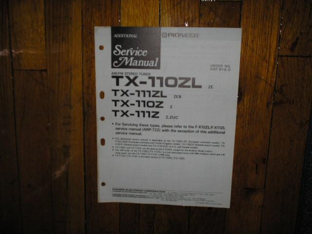 TX-110Z TX-110ZL TX-111Z TX-111ZL Tuner Service Manual