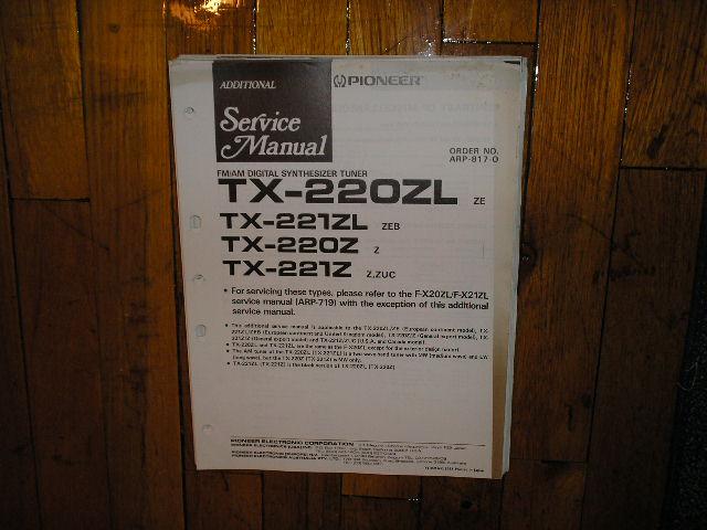TX-220Z TX-220ZL TX-221Z TX-221ZL Tuner Service Manual