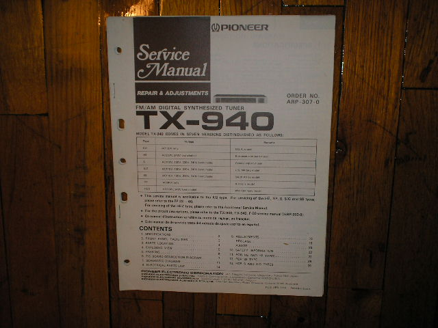 TX-940 Tuner Service Manual