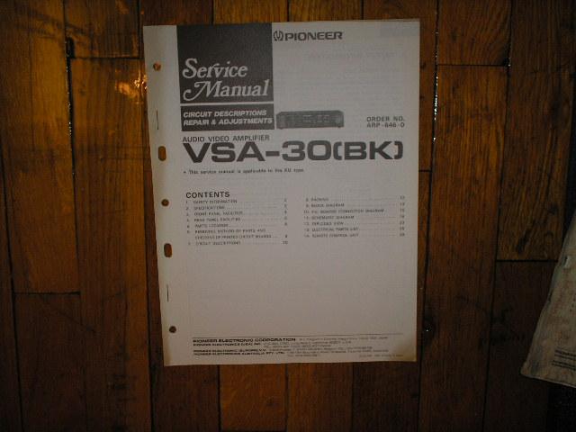 VSA-30BK Amplifier Service Manual