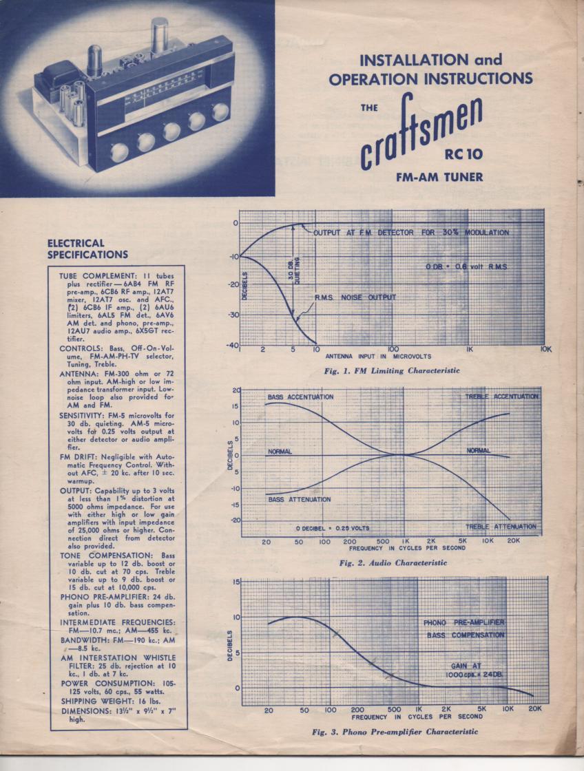 RC10 AM FM Tuner Service Manual