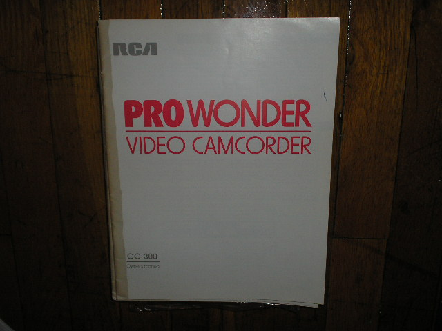 CC300 VHS Camcorder Operating Instruction Manual