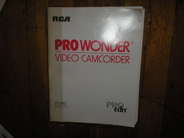 CC320 Pro Wonder VHS Camcorder Operating Instruction Manual