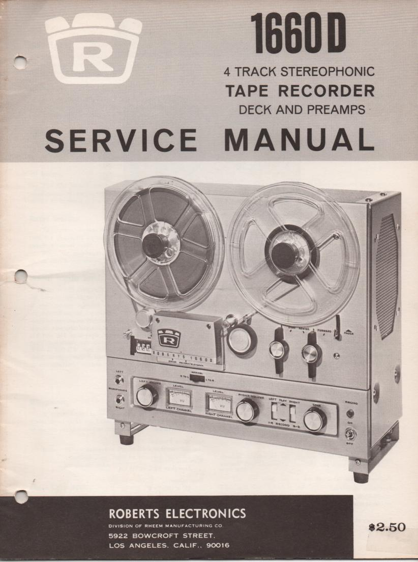 1660D Reel to Reel Service Manual