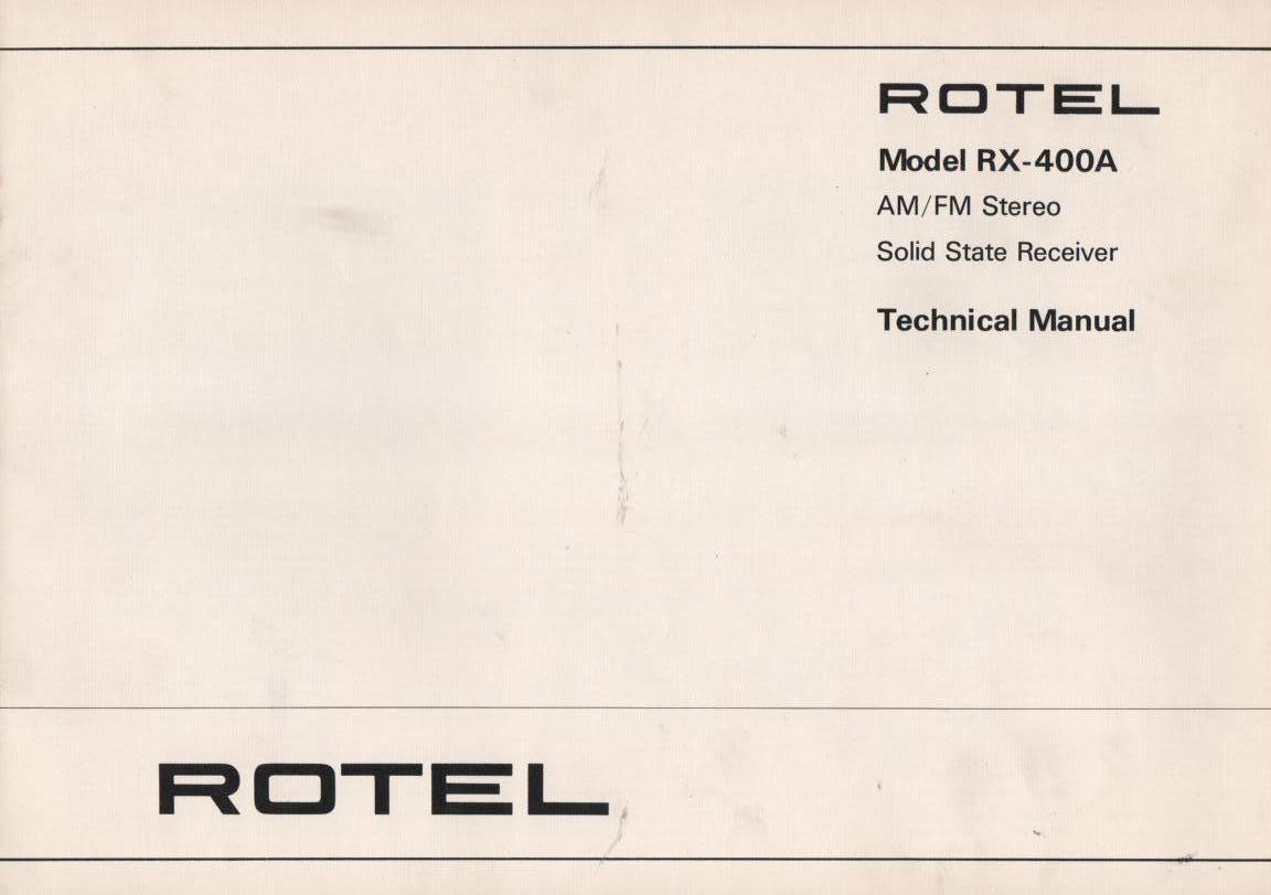 RX-400A Receiver Service Manual