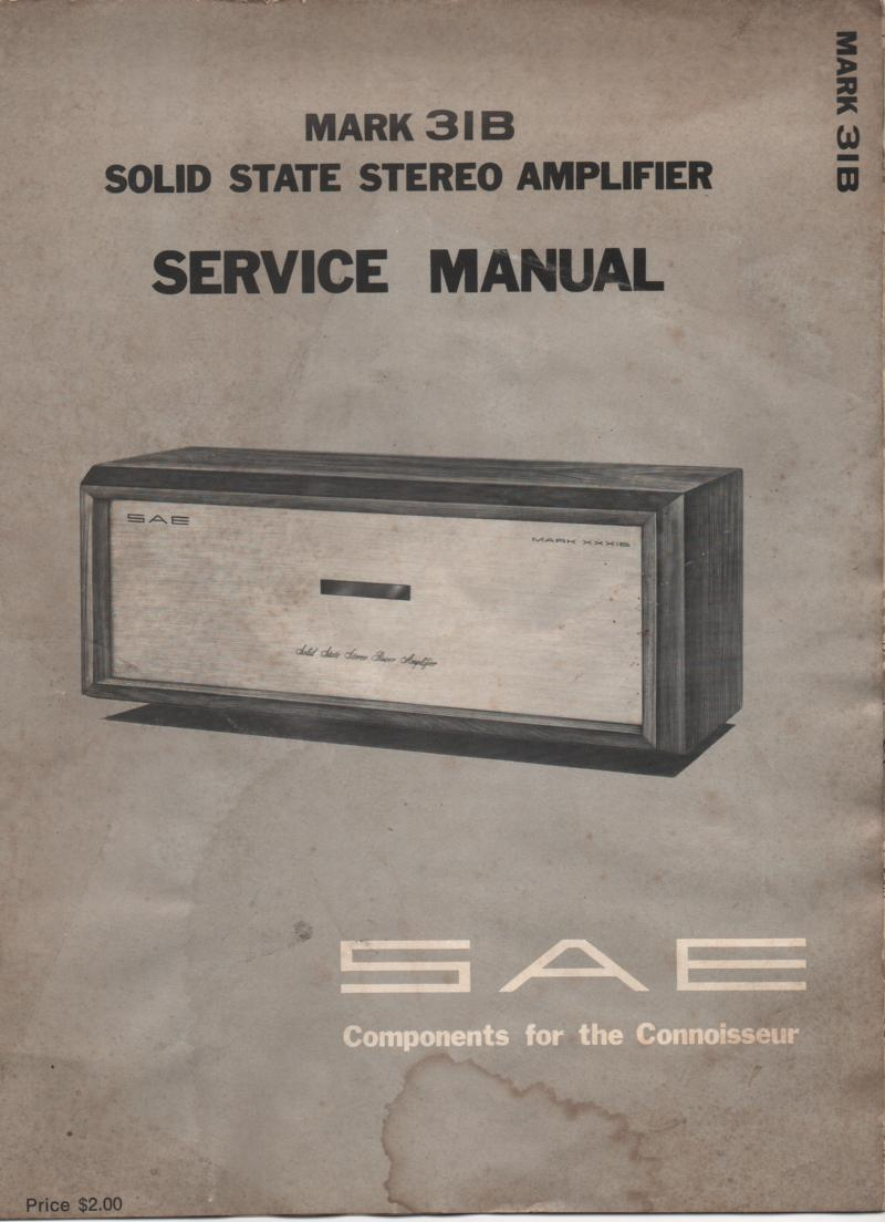 MARK 31B Stereo Amplifier Service Manual