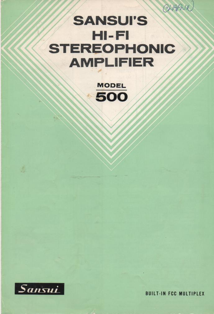 500 Amplifier Receiver Operating Manual