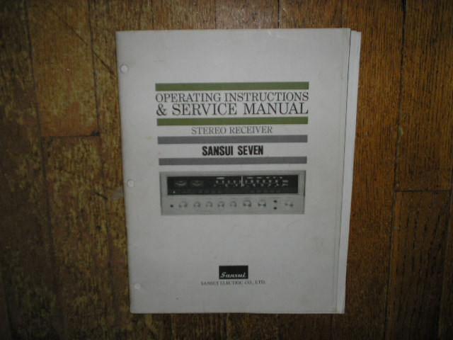 7 Seven Receiver Operating Instruction Manual