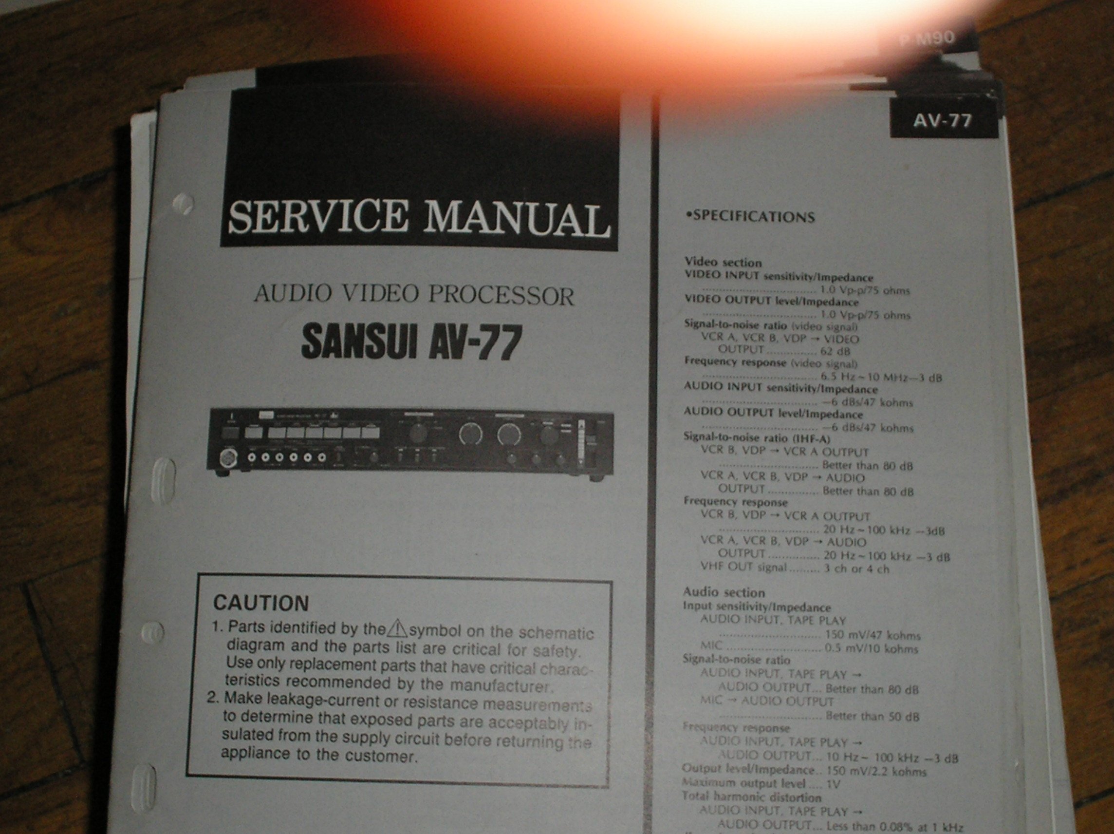 AV-77 Audio Video Processor Service Manual