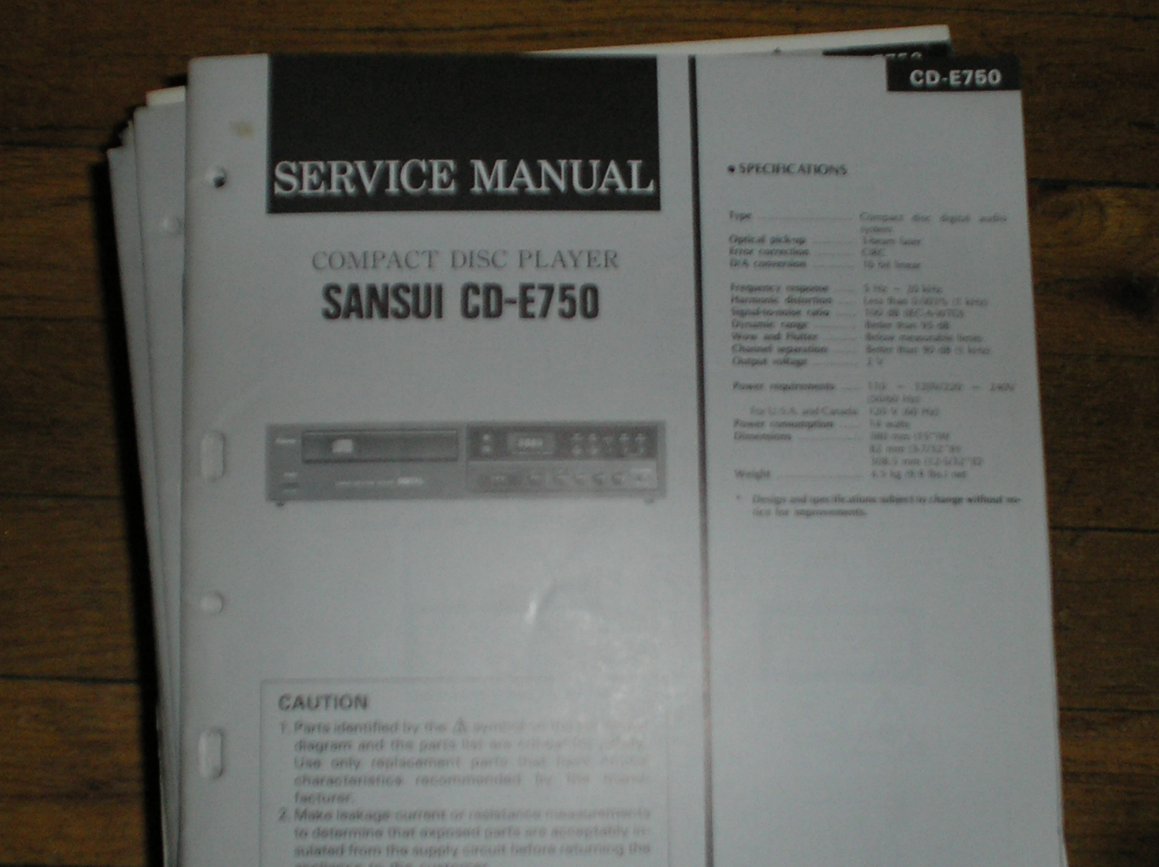 CD-E750 CD Player Service Manual