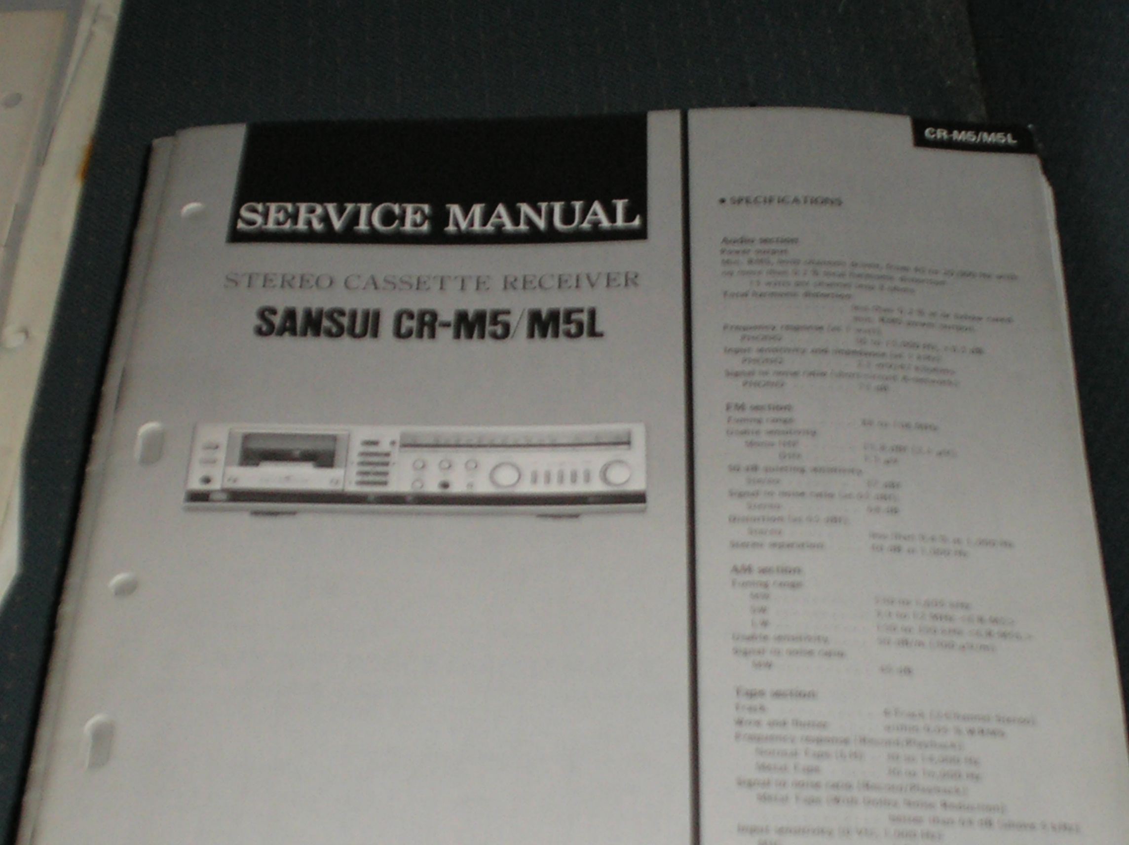 CR-M5 CR-M5L Cassette Receiver Service Manual