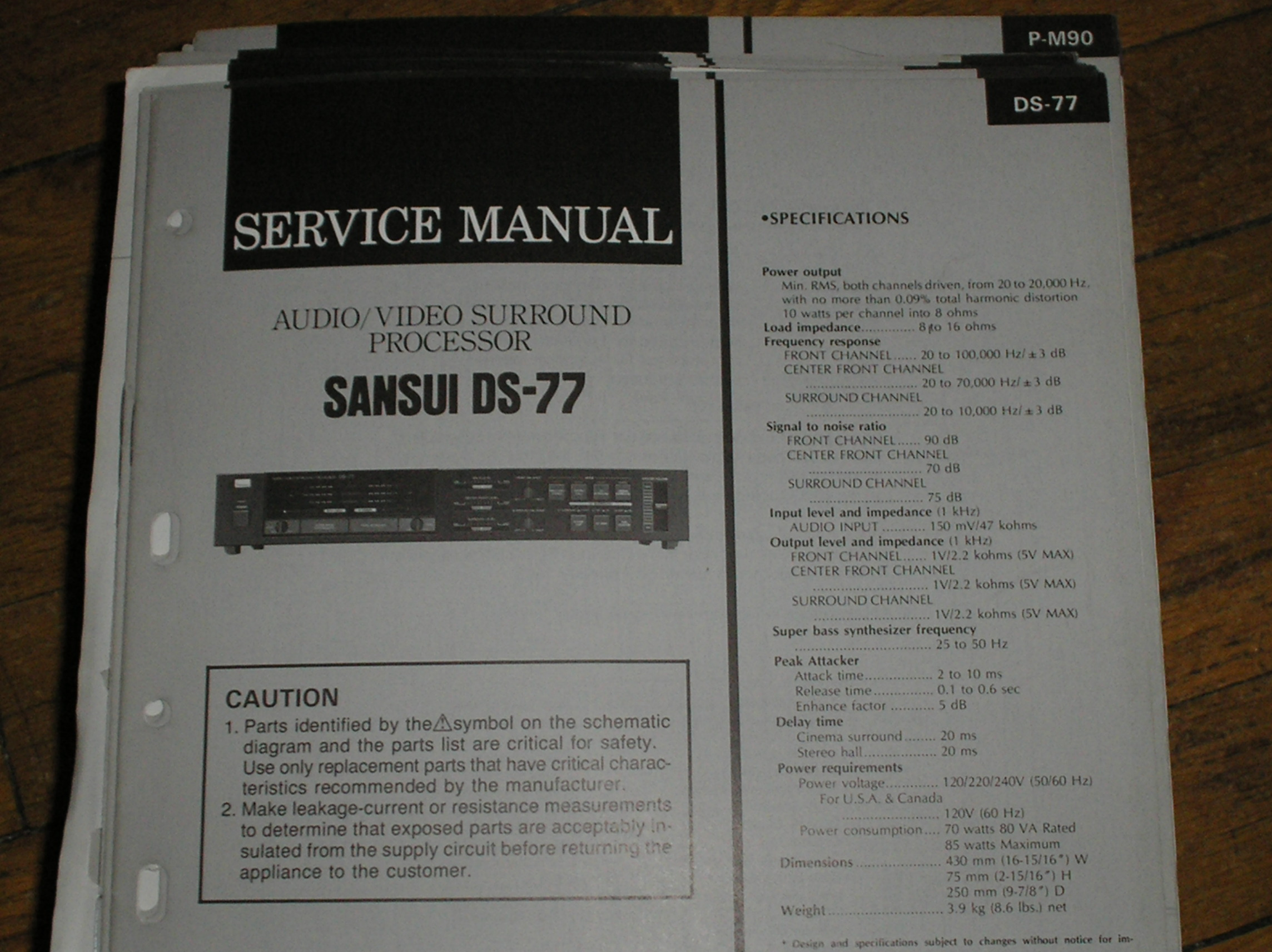 DS-77 Audio Video Surround Processor Service Manual