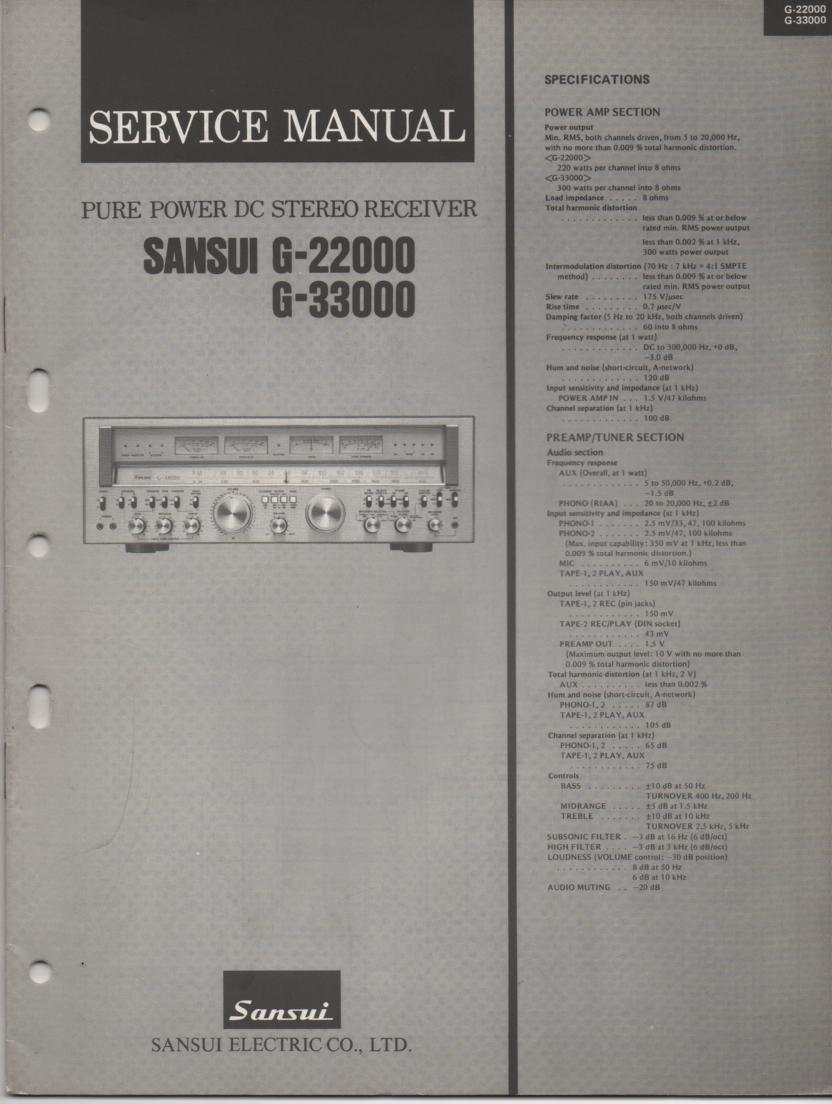 G-22000 G-33000 Receiver Service Manual