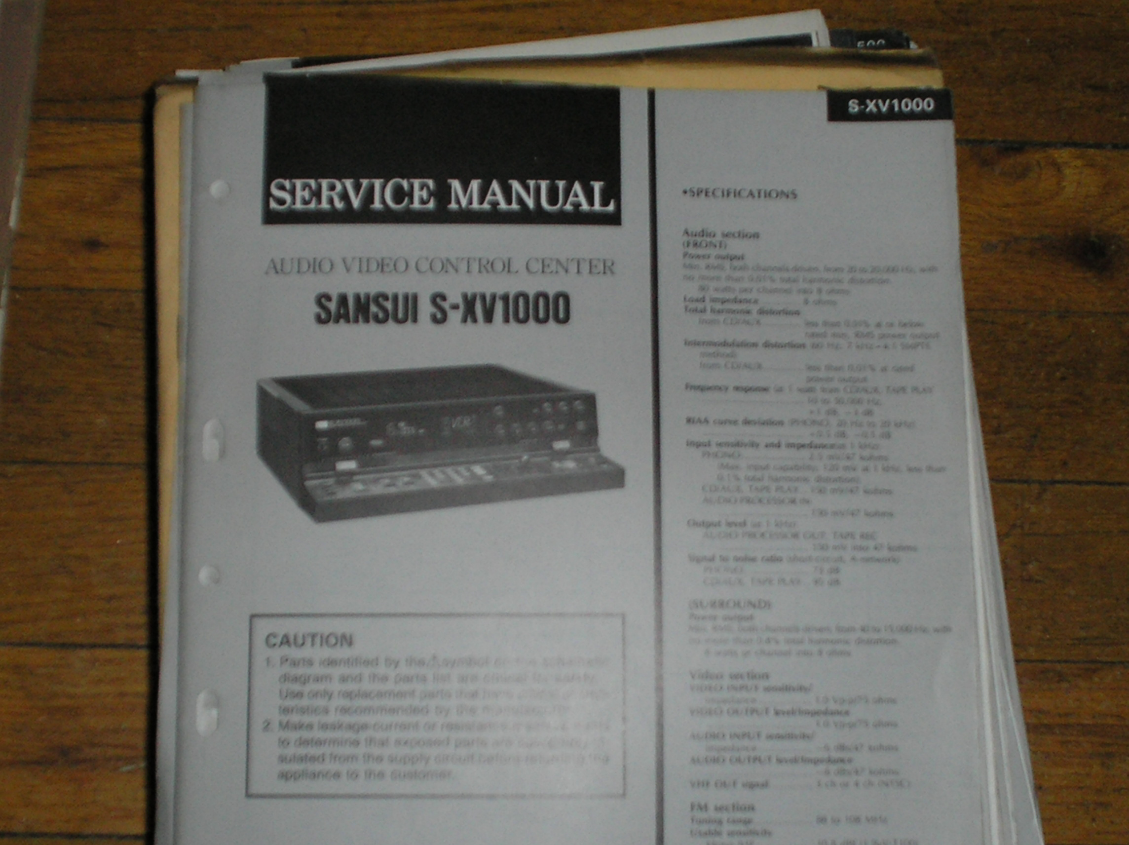 S-XV1000 Audio Video Controller Service Manual