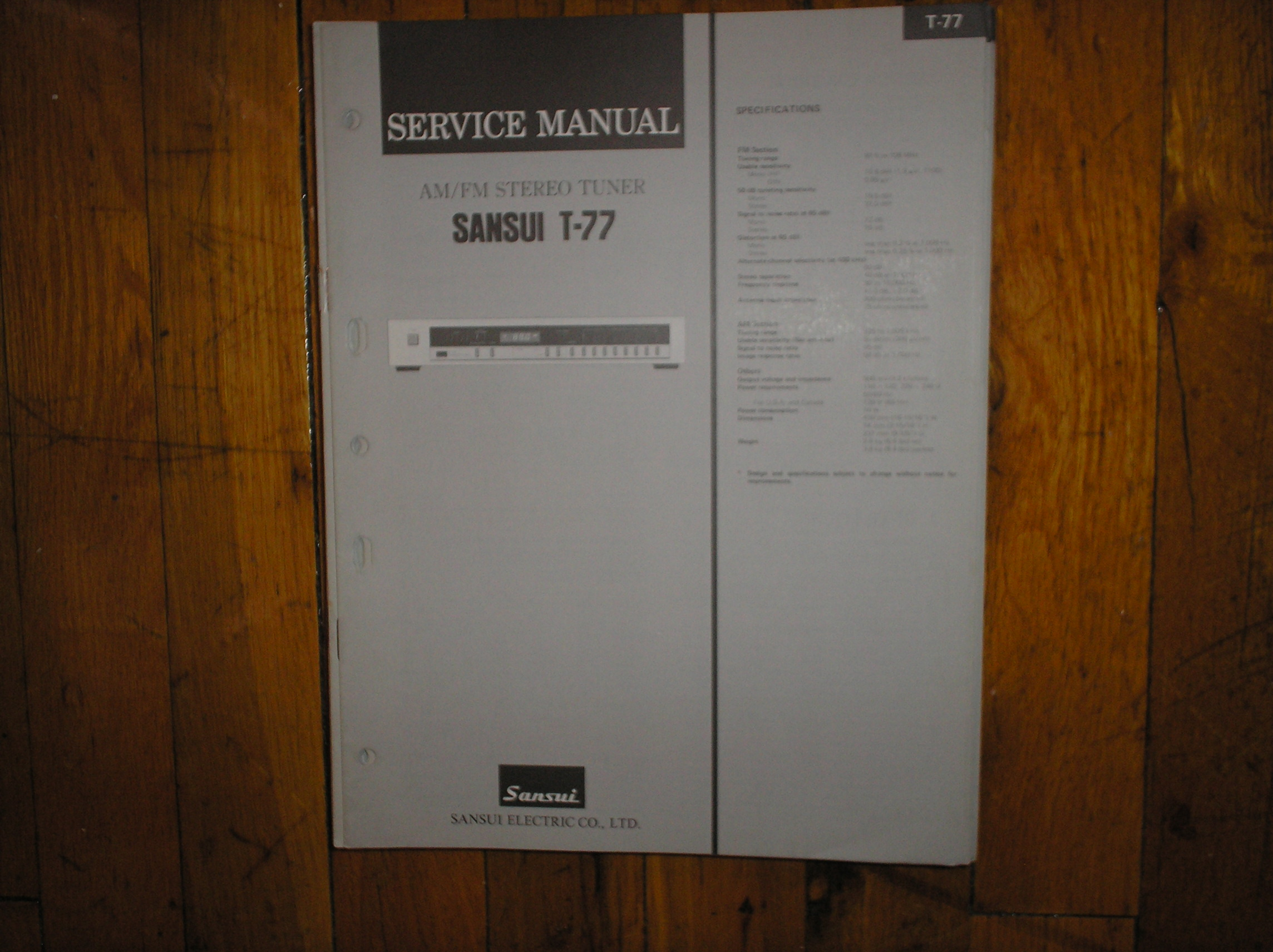 T-77 Tuner Service Manual