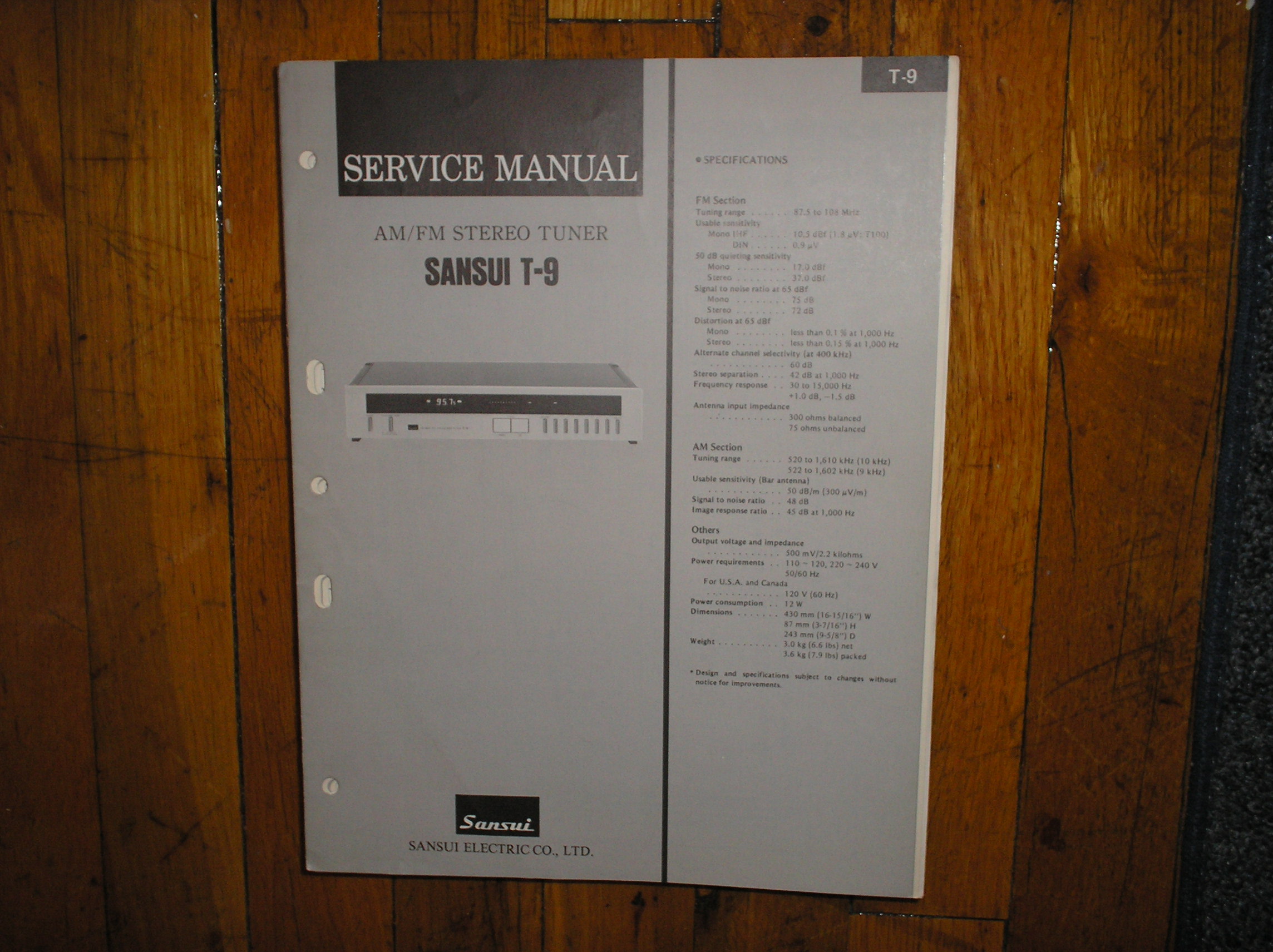 T-9 Tuner Service Manual