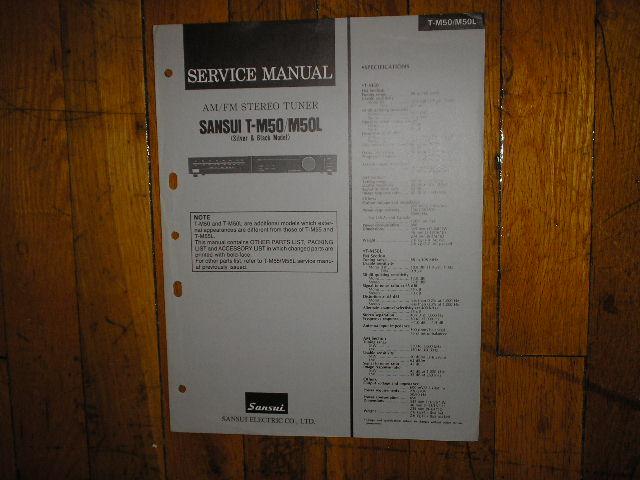 T-M50 T-M50L Tuner Service Manual