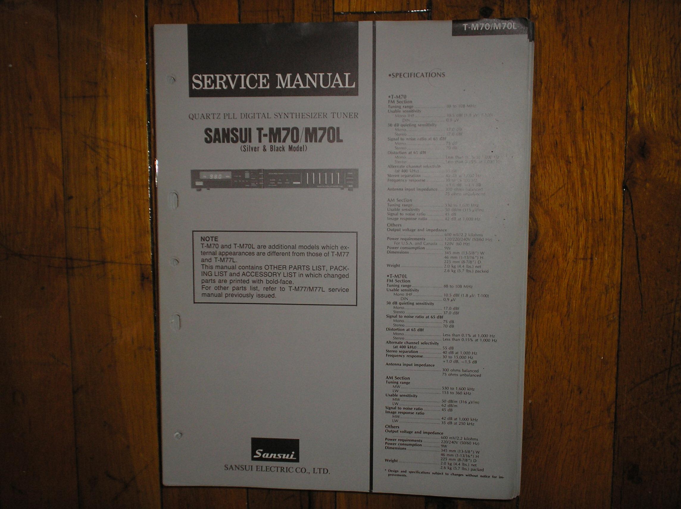 T-M70 T-M70L Tuner Service Manual