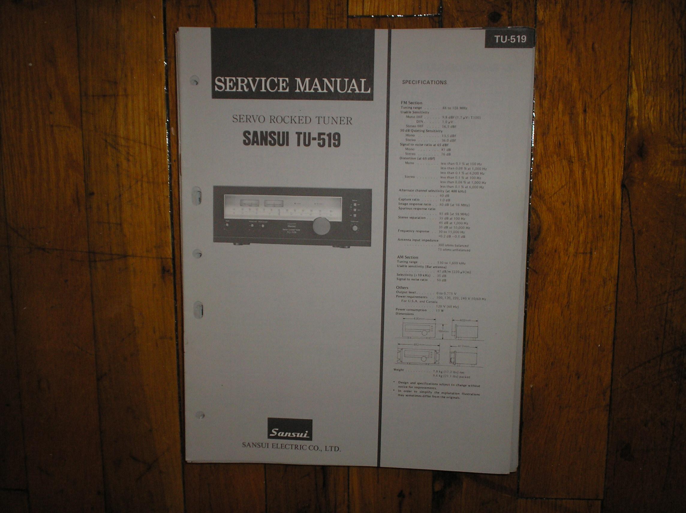 TU-519 Tuner Service Manual