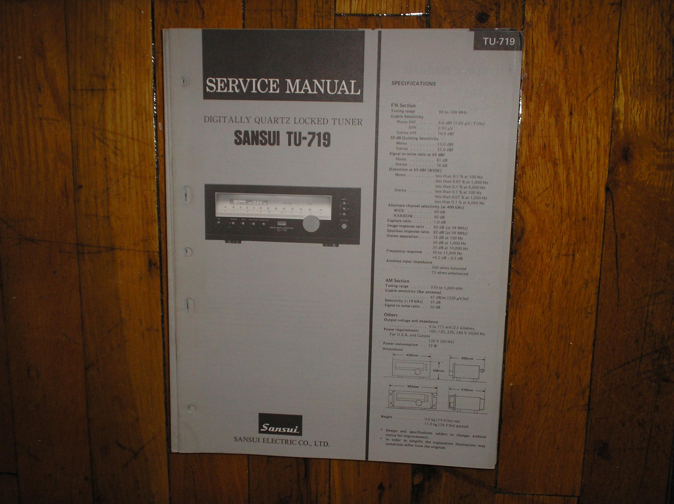 TU-719 Tuner Service Manual