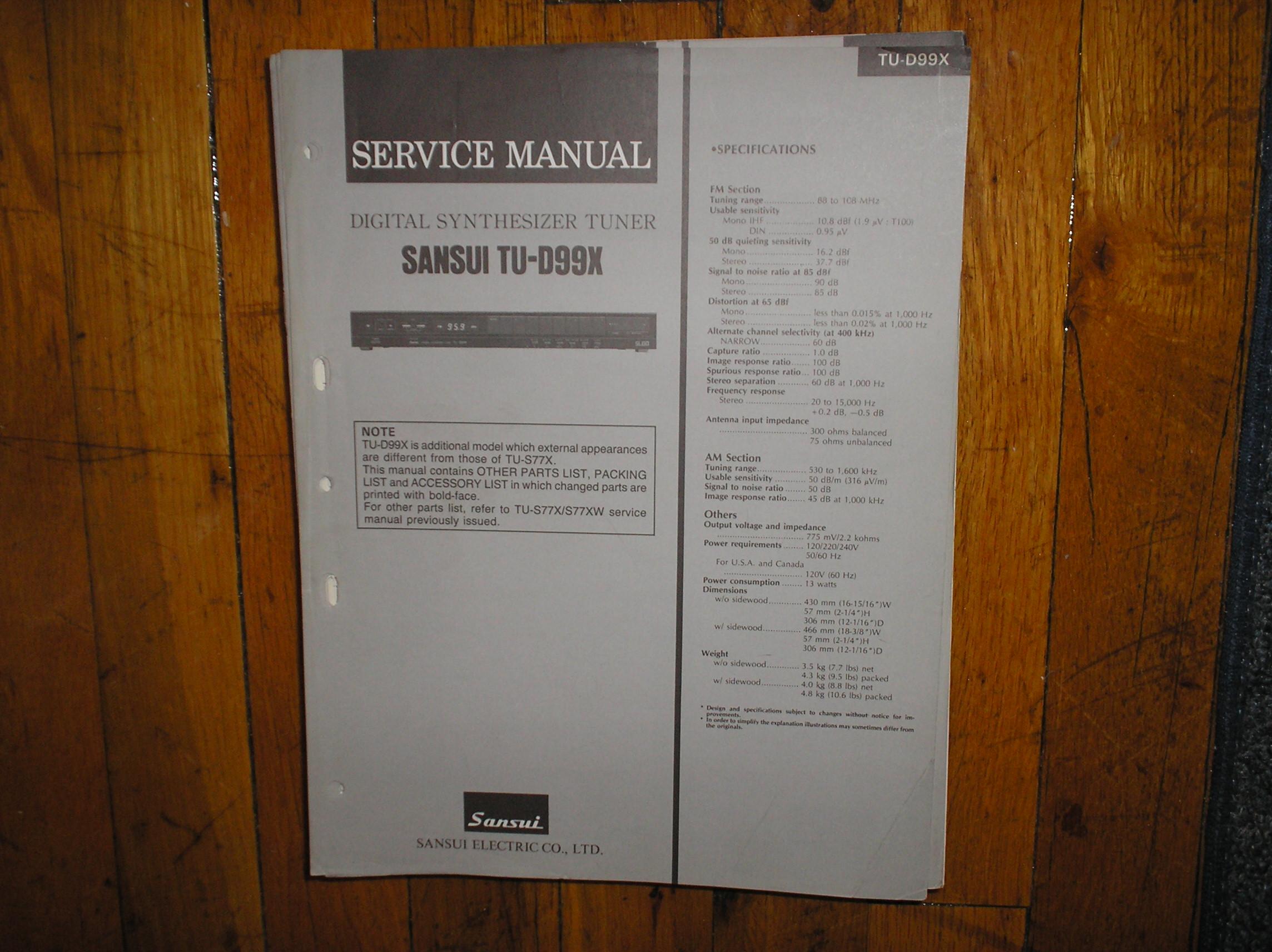 TU-D99X Tuner Service Manual